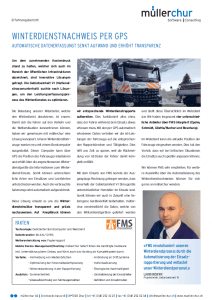müllerchur Flottenmanagementsystem FMS GPS Winterdienst Erfolgsgeschichte GEVI PDF dq