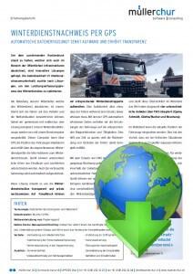 müllerchur Flottenmanagementsystem FMS GPS Winterdienst Erfolgsgeschichte GEVI