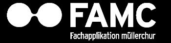 müllerchur Fachapplikation müllerchur Zeiterfassung und Leistungserfassung Logo weiss