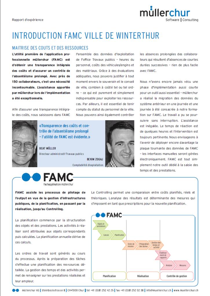 FAMC rapport d'expérience