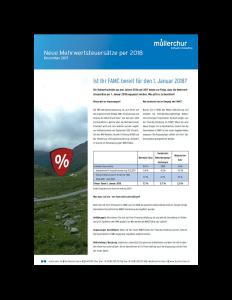 Mehrwertsteuer 2018
